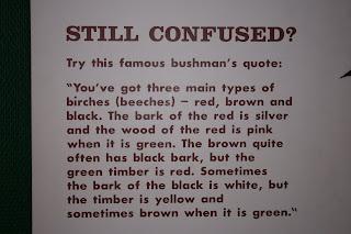 Colur blind bushmans qoute?