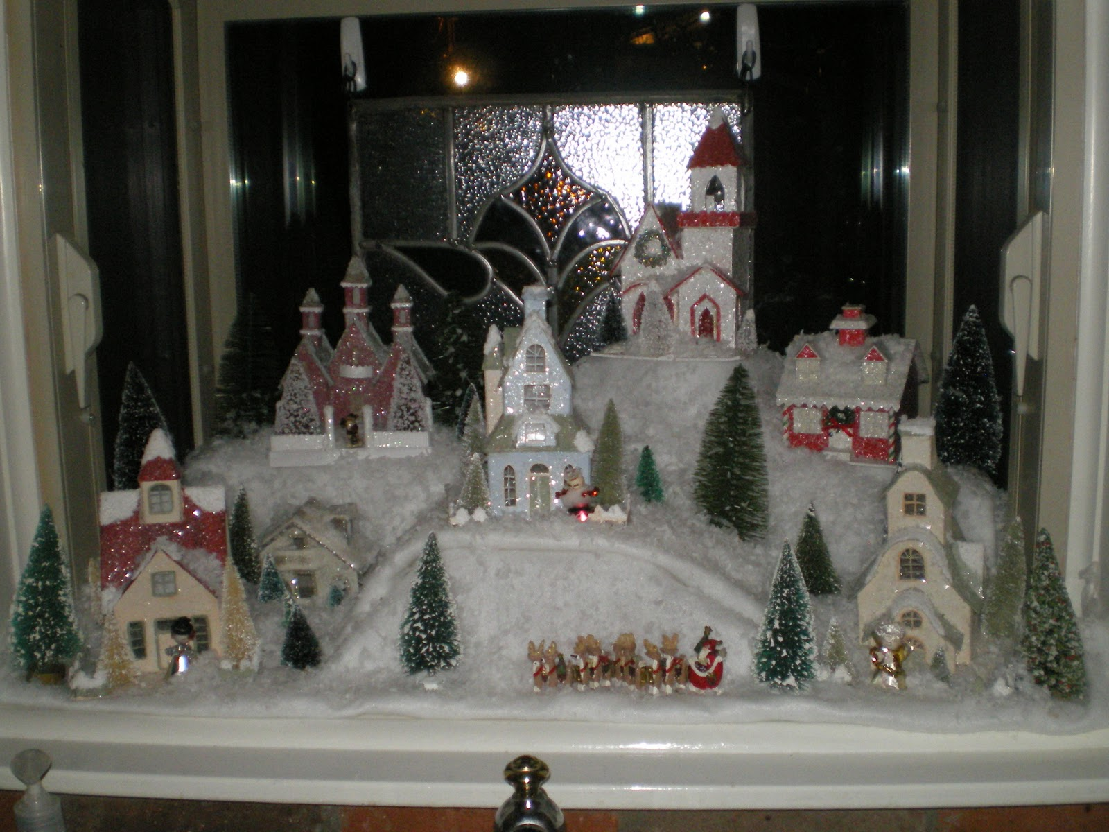 as a little girl i remember my paternal grandmother grandmother hoffman always had a snow village display under her aluminum christmas tree