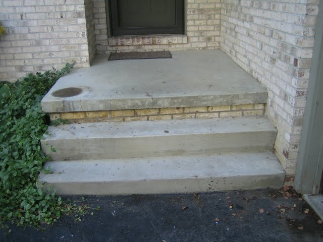 Porch Replacement Using Brick Pavers