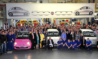 Fiat 500 USA: The Fiat 500 hits the 500,000th mark... :  green cars cars sexy fiat