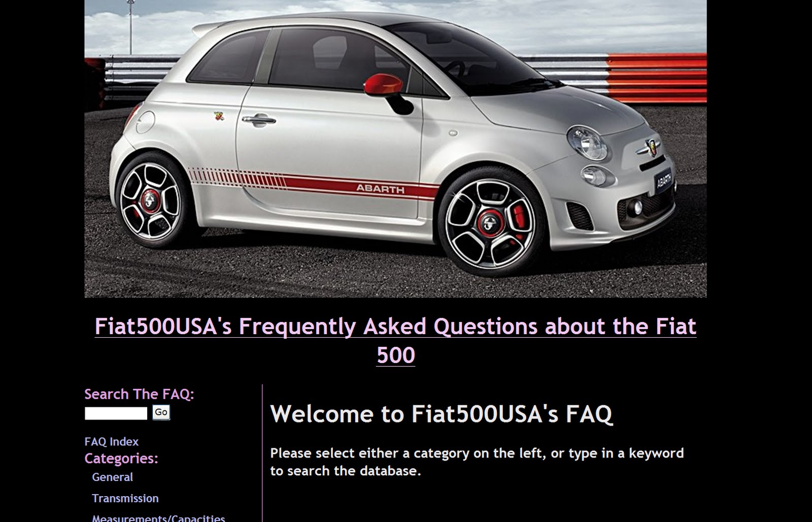 database on the Fiat 500.