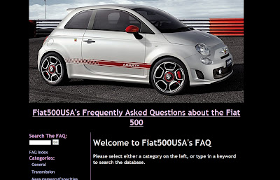 Fiat 500 USA: Fiat500USA's Frequently Asked Questions about the Fiat 500