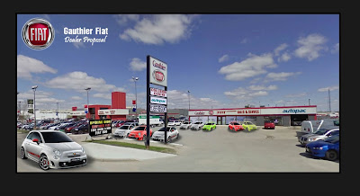 Fiat 500 USA: First new Fiat dealer website launched in North America... :  canada fiat north america gauthier auto group fiat 500