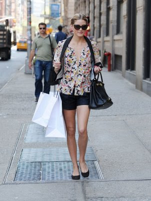 Shopping In Shorts With Simple Flats And A Statement Birkin