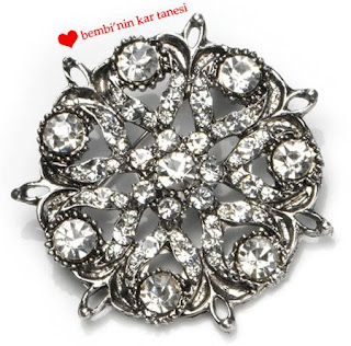 Accessorize Snowflake Brooch