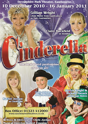 Cinderella Eastbourne panto 2010 Gillian Wright, Claire Buckfield, Tony Adams, Rachel Jerram, Martyn Knight and Richard Pocock