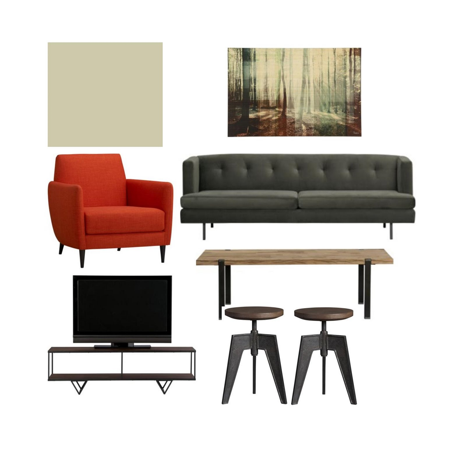 spruce: a green space: living room spaces