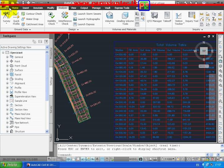 Superficie AutoCAD Civil 3D 2011