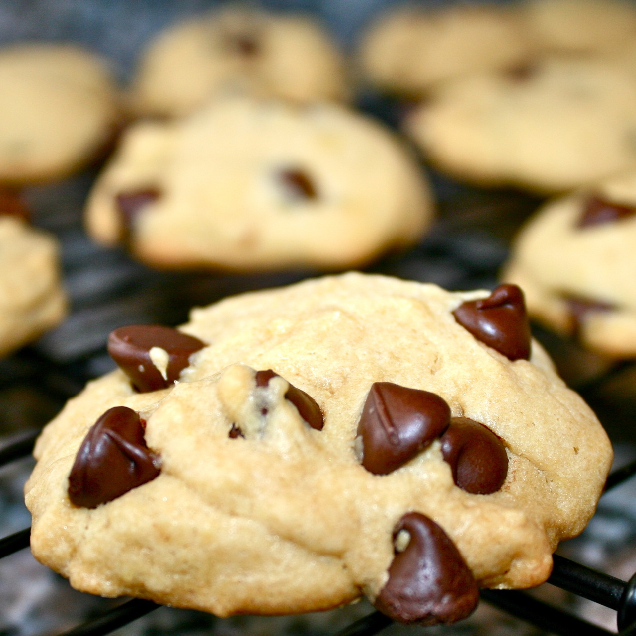 Thick And Chewy Chocolate Chip Cookies Recipe — Dishmaps