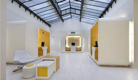 luxurious and elegant interior design of modern banks. Black Bedroom Furniture Sets. Home Design Ideas