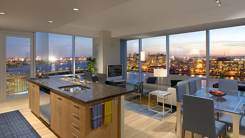 Architecture Homes Modern kitchen apartments living room and