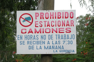 No parking, La Ceiba, Honduras