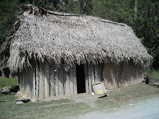 Wood and mud house in Honduras