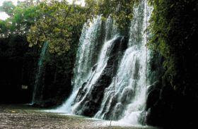 Waterfall in balneario Bahr, in the community of Yojoa, Honduras