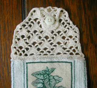 crocheted kitchen towel