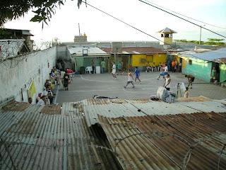 La Ceiba prison yard, Honduras