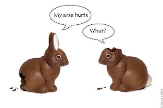 suffering chocolate bunnies
