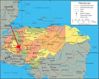 Map La Esperanza, Intibucá, Honduras