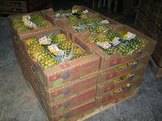 Dole pineapples packed for shipment