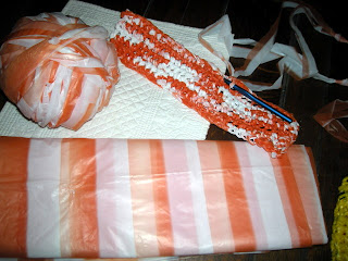 square base of the plarn bag