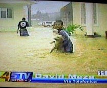 Boy saving his dog,  La Ceiba, Honduras