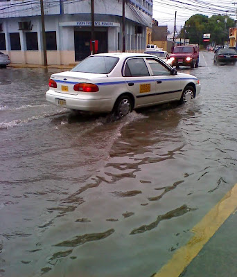 Flooded street, La Ceiba, Honduras