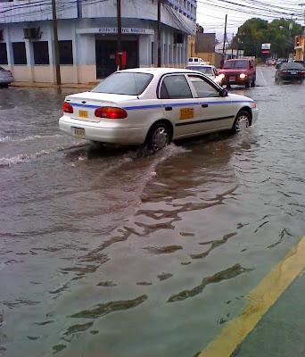 Flooded street, La Ceiba, Honduras