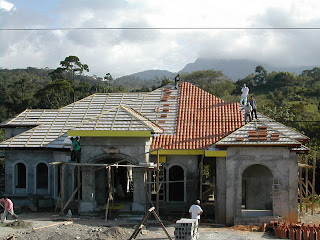 clay tile roof construction