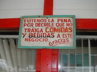 restaurant sign, Tela, Honduras