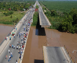 El Progreso bridge, Honduras earthquake