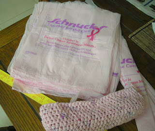 pink bags for crocheting