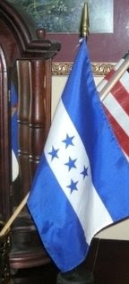 Honduran &amp; US Flags