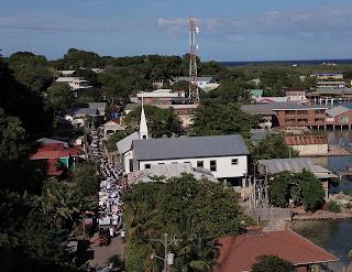 Utila, Honduras peace parade