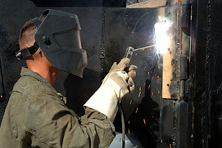 Welders Develop First Up-Armored Iraqi Police Truck