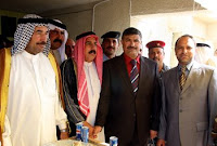 Local sheiks in Balad discuss the way forward during a Qadah meeting with the governor of the Salah ad Din province on April 3, 2008. Both Sunni and Shia sheiks attended the meeting together for the first time in more than a year.