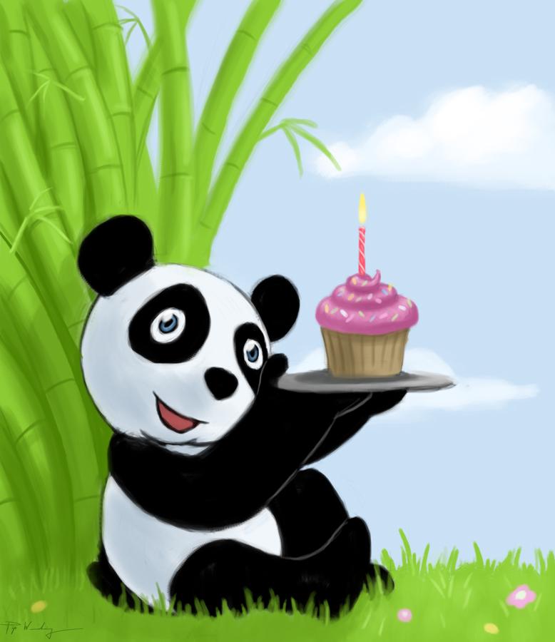 anyway, Happy Birthday Kamil! Panda Birthday. A birthday card I did for a