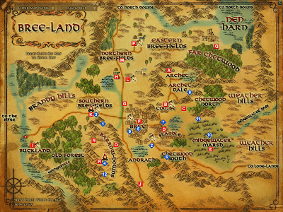Bree-land Map LOTRO