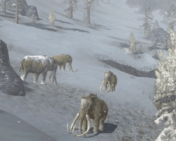 Lord of Rings Mammoths in Misty Mountains