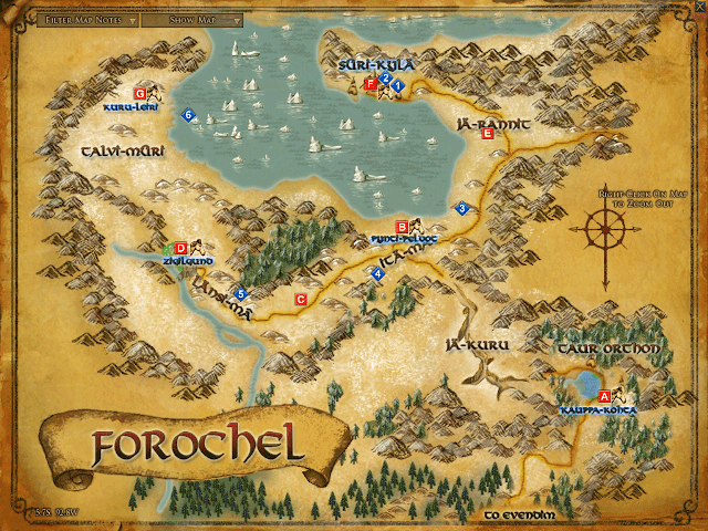 LOTRO Map of Forochel