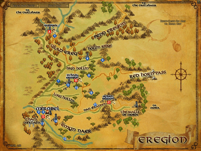 Eregion Map LOTRO