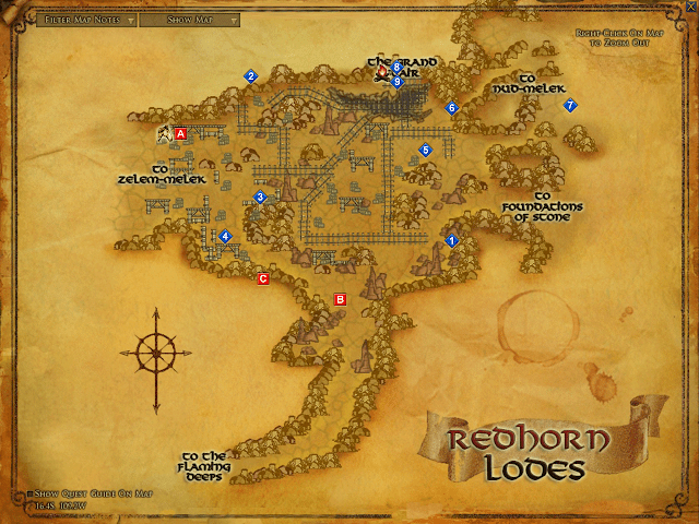 LOTRO Redhorn Lodes Map
