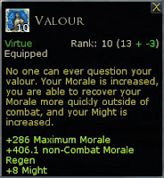 LOTRO Valour virtue trait