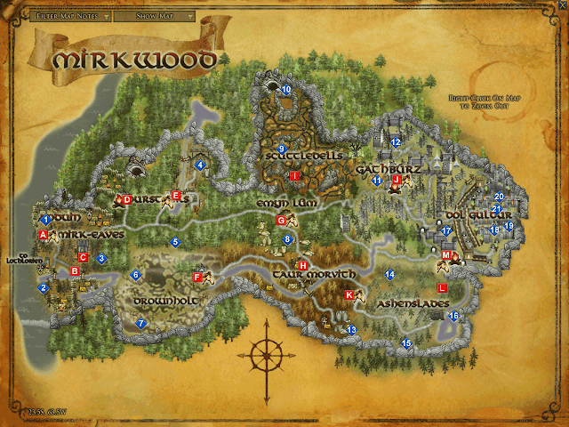 LOTRO Mirkwood map