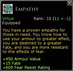 LOTRO Empathy values at rank 10