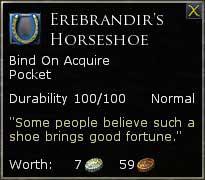 LOTRO Erebrandir's Horseshoe