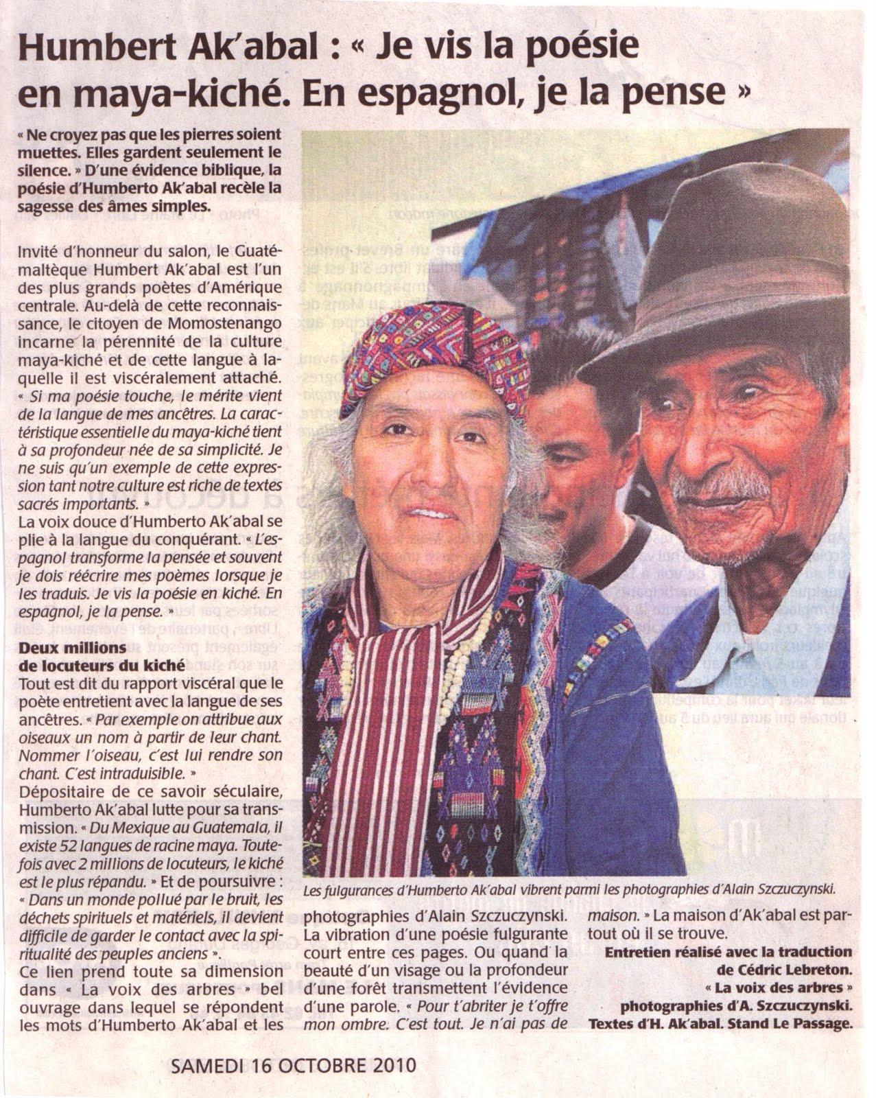 Association guatemala 96 la passion du monde maya salon - Salon du livre le mans ...