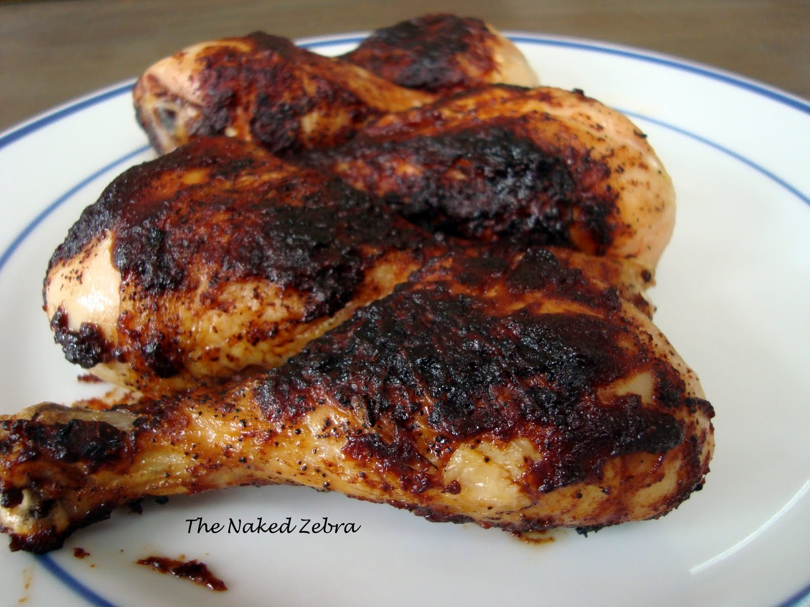 ... cooked. Moist, delicious, sticky beautiful barbecued chicken
