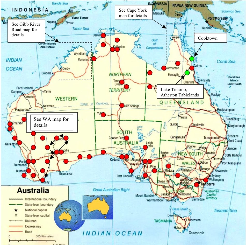 the murrays lap of oz updated travel map