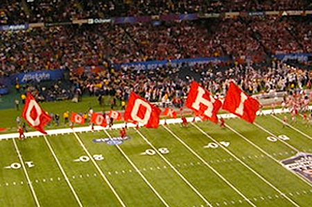 Image result for ohio state running with flags spelled wrong