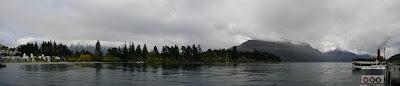 My New Zealand Vacation, Queenstown, Lake Wakatipu, Pano26